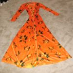 Vintage 1970's Long Wrap a Round Evening Dress