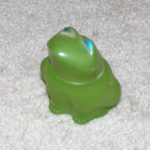 Vintage 1970's Green Frog Avon Bottle