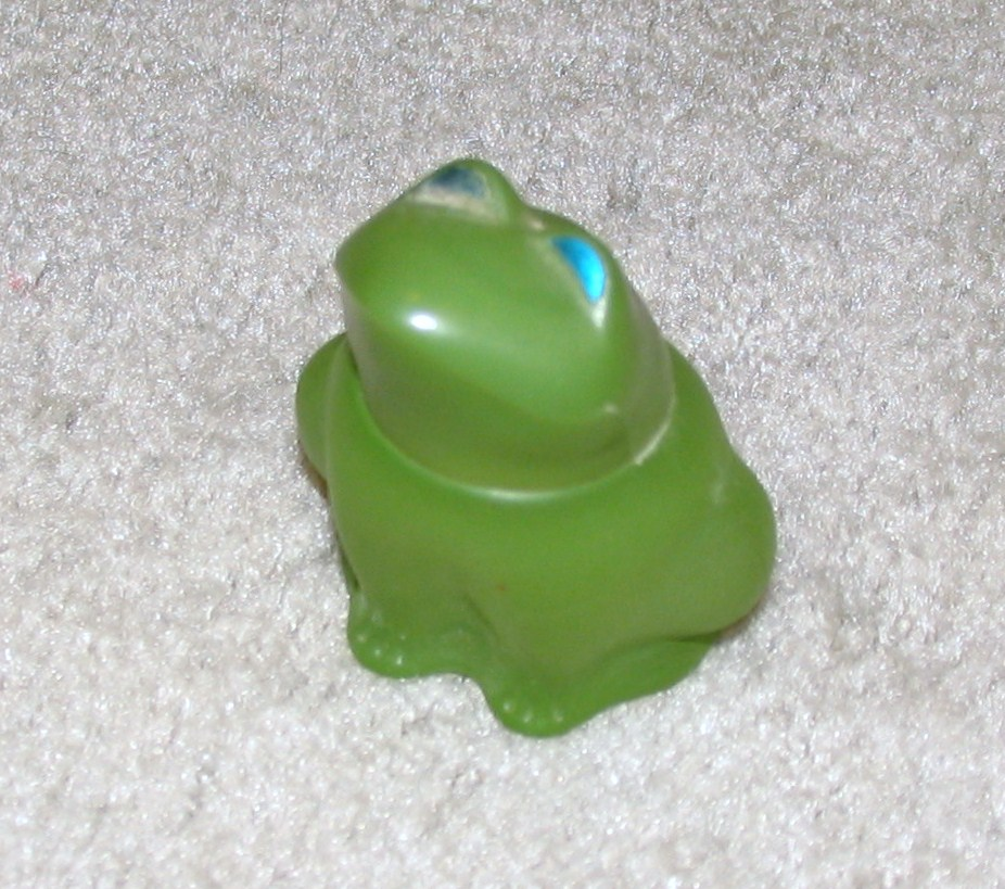 Vintage 1970's Green Frog Avon Bottle
