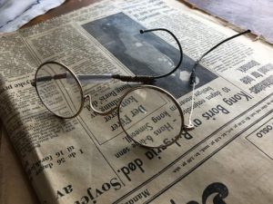 You can compost old newspapers.